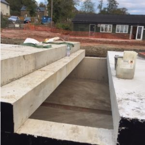Storm Water Attenuation Tanks, Pembrokeshire Wales